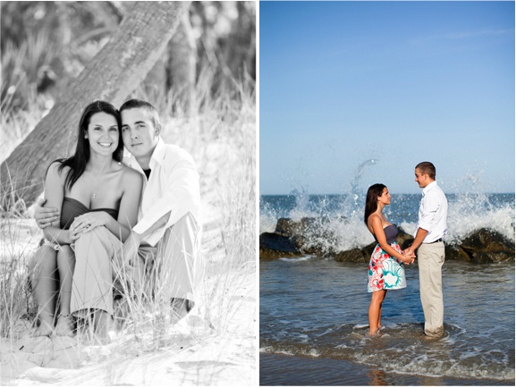 charleston wedding engagement on folly beach south carolina from hannahlane photography