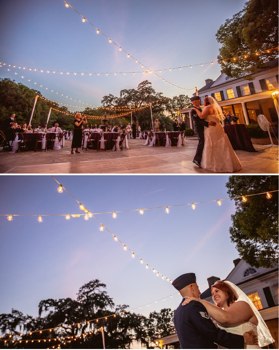 charleston wedding in the evening at the legare waring house