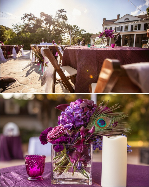 charleston wedding at legare waring house by charleston wedding vendors, peacock wedding decor