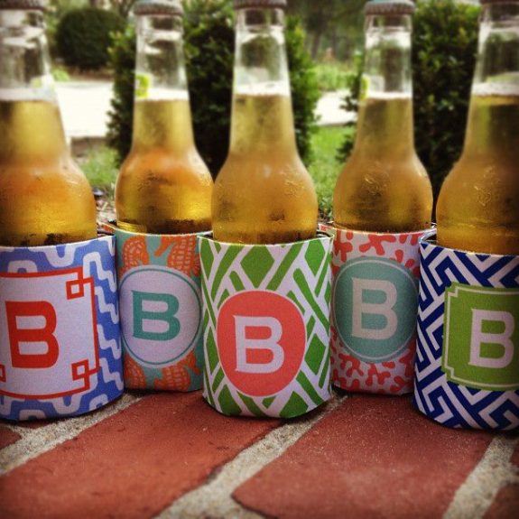 myrtle beach wedding gifts from haymarket designs including koozies for charleston wedding bachelorette parties and bridal parties