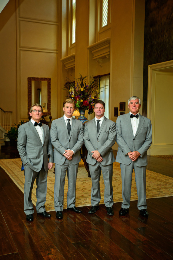 charleston wedding at the sanctuary resort on kiawah island, groomsmen in grey suits, lowcountry weddings