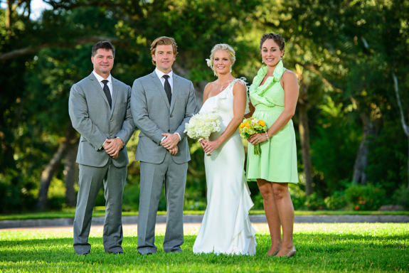 charleston wedding at the sanctuary resort on kiawah island, bridal party picture, green bridesmaids dress