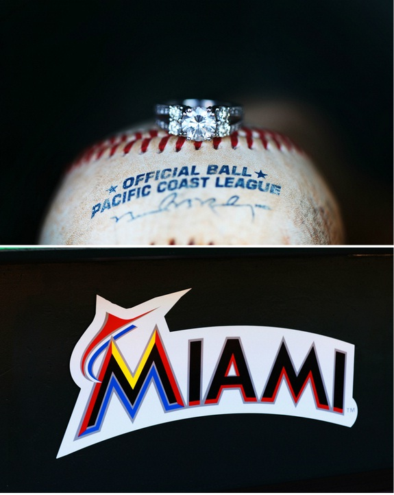 abacoa florida wedding engagement at miami marlins stadium from stay forever photography