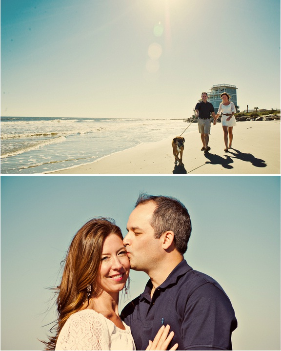 charleston wedding engagement on folly beach south carolina via priscilla thomas photography