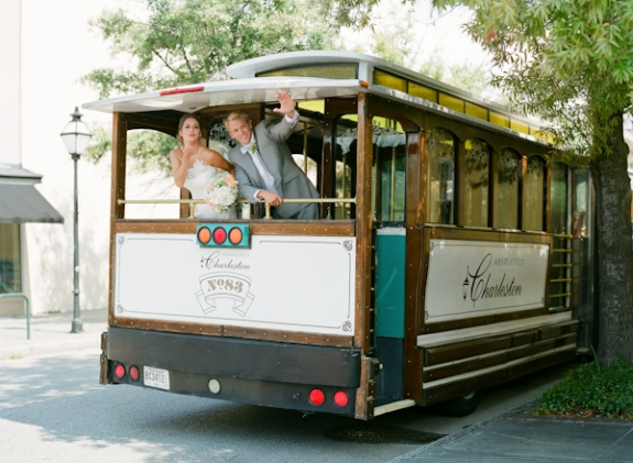 absolutely charleston wedding trolley