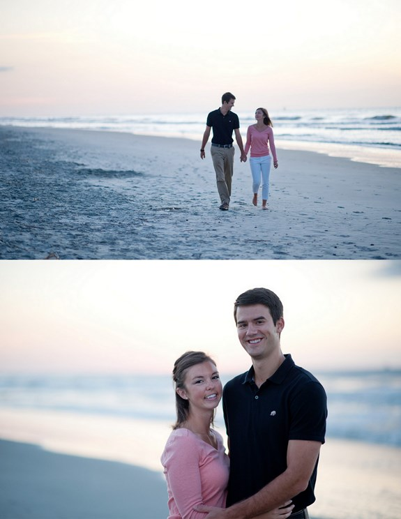 charleston wedding engagement on folly beach