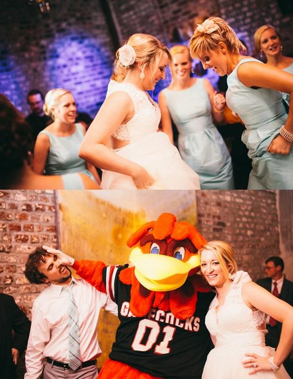 university of south carolina wedding, cocky