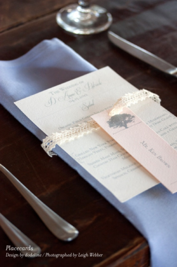 charleston weddings placecards for seated dinner from dodeline design