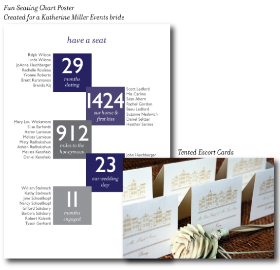 charleston wedding stationery tips for a seated dinner, tented escort cards, seating chart