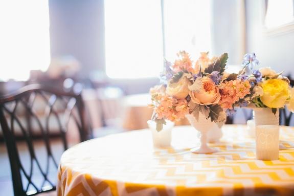 chevron wedding linens