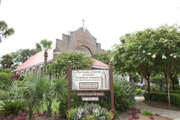 folly beach weddings, our lady of good counsel