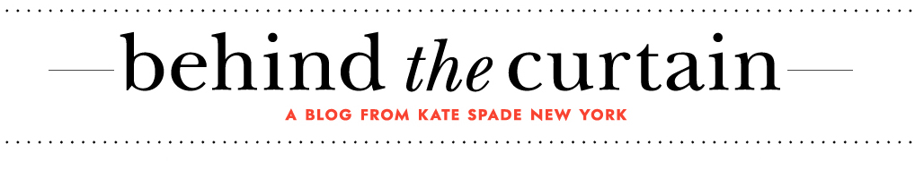 kate spade behind the curtain