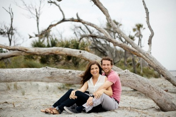 charleston beach engagement session