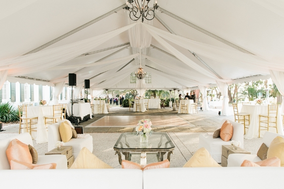 charleston tented wedding reception at lowndes grove
