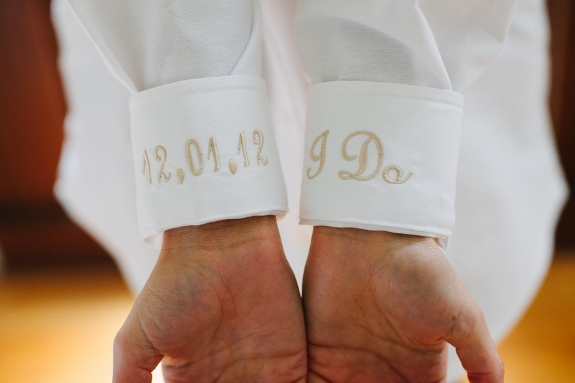 charleston wedding shirt with monogrammed cuffs