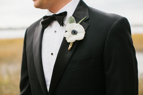 charleston wedding boutonniere by violet floral design