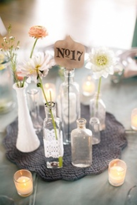 vintage wedding bottles