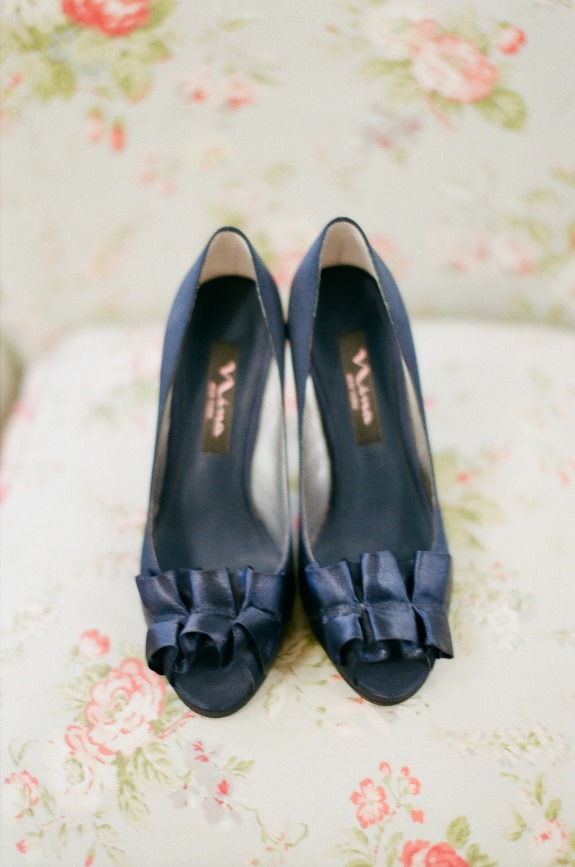 navy wedding shoes in charleston, south carollina