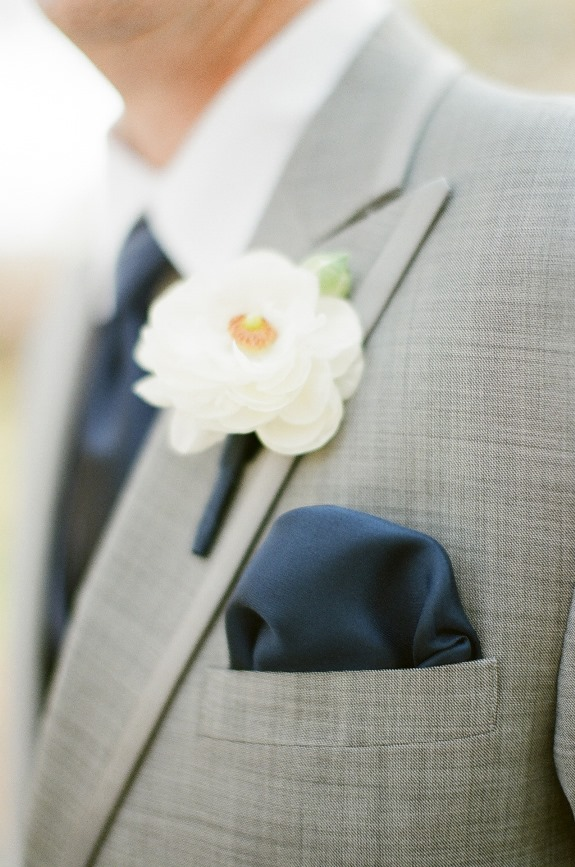 groomsmen boutonniere by pretty petals of charleston at lowcountry wedding