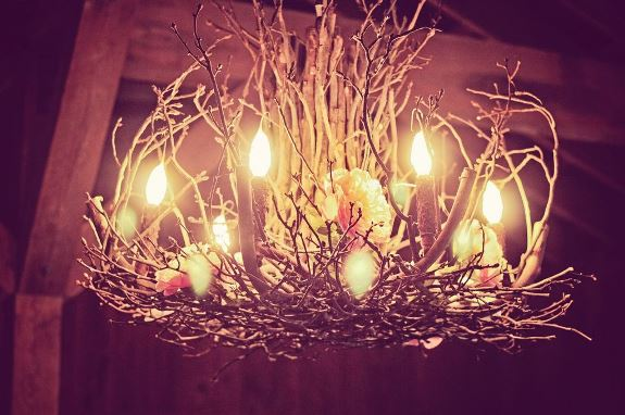 branch wedding chandelier