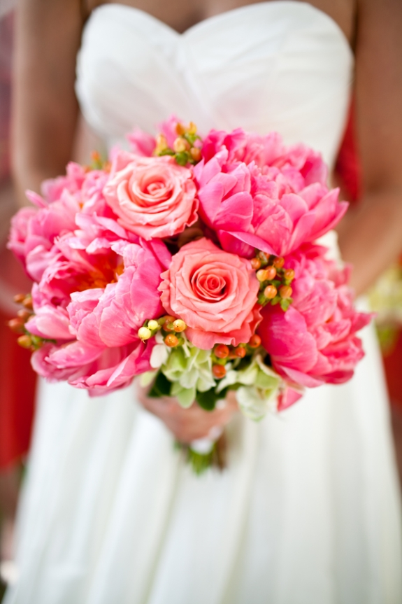 blossoms events peony bouquet