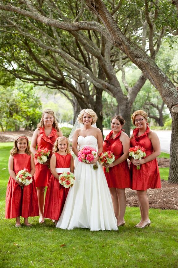 persimmon lulakate bridesmaids dresses