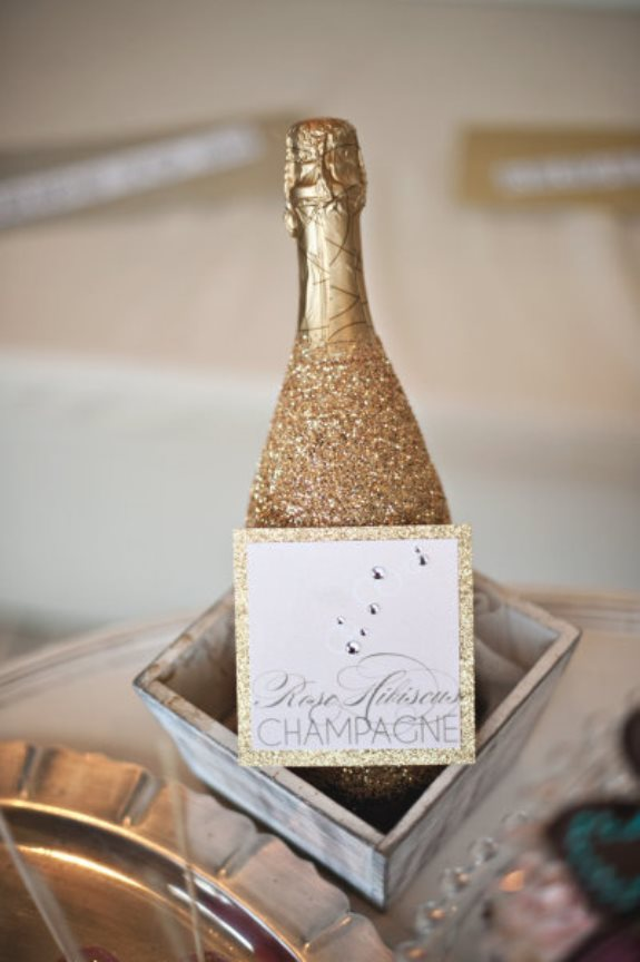 glitter champagne charleston wedding
