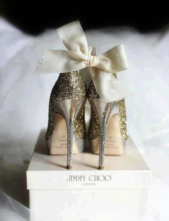 jimmy choo gold heels wedding shoes