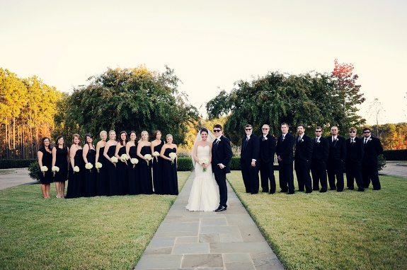 formal black and white southern wedding