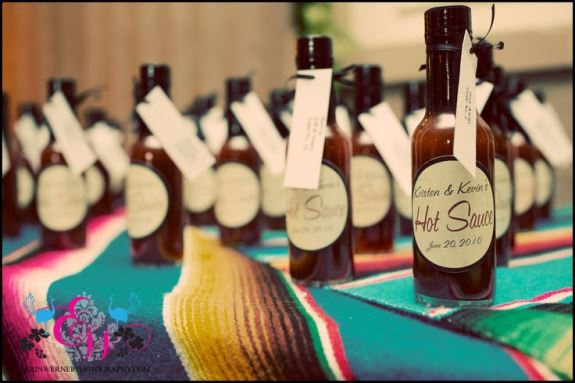 charleston wedding hot sauce favors