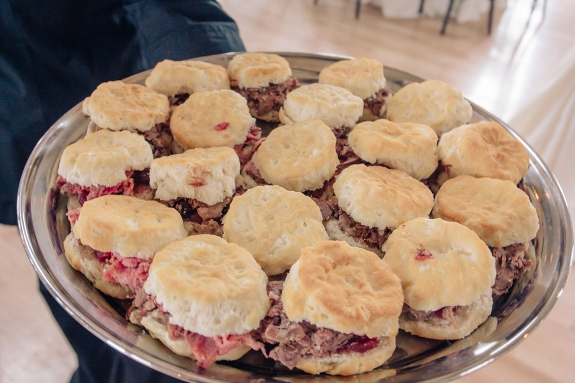charleston wedding catering, ham biscuits