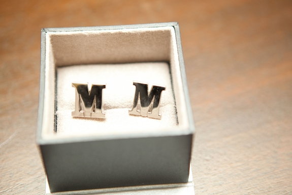 southern wedding initial cufflinks