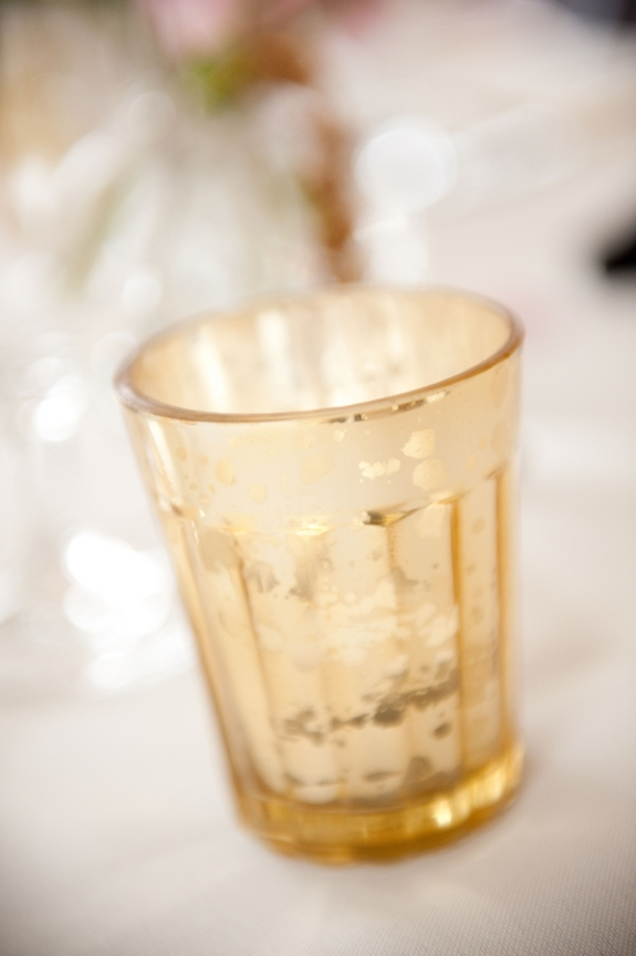 charleston wedding vendors, gold votives