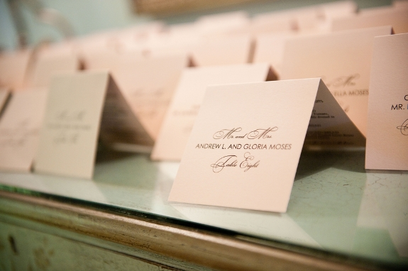 charleston wedding placecards