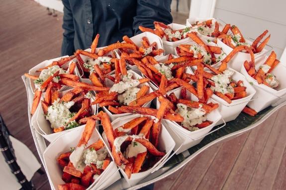 charleston wedding catering, sweet potato fries