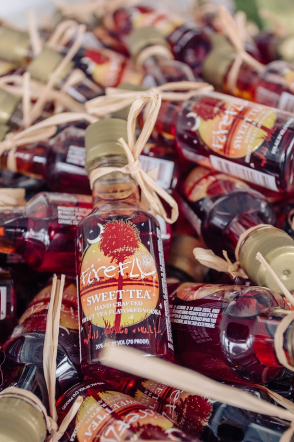 charleston wedding favors, firefly vodka