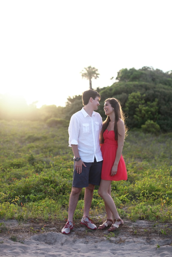 alexandra and thomas folly beach wedding engagement
