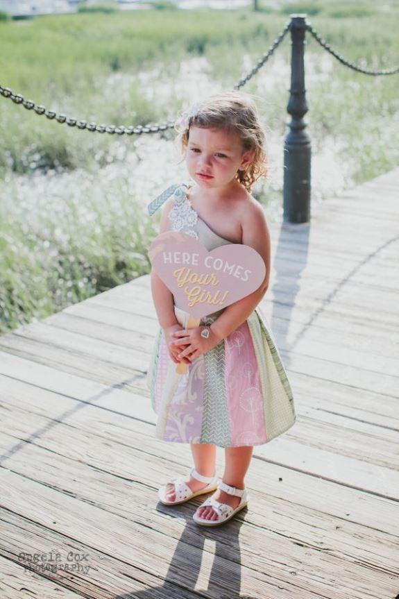 charleston wedding flowergirl