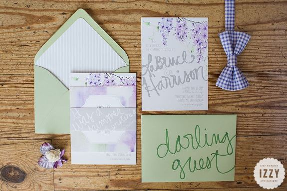 charleston wedding invitations, miss wyolene