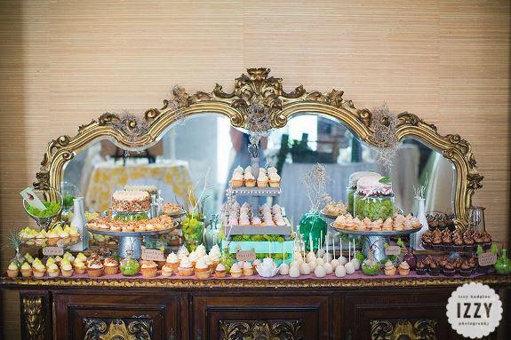 charleston wedding dessert display