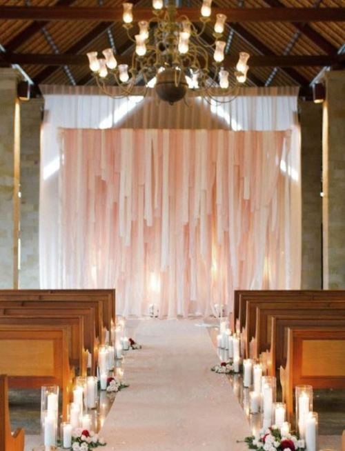 charleston weddings, ribbon wedding altar