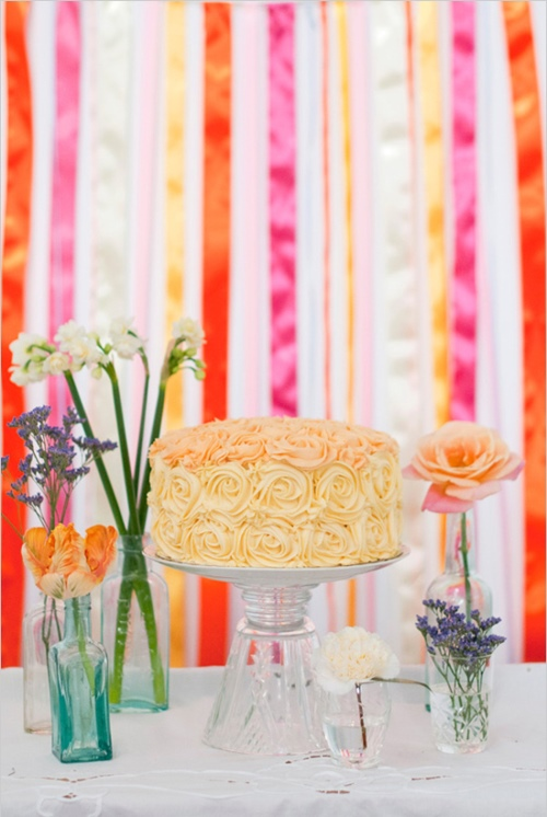 ribbon wedding backdrop