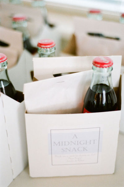 myrtle beach wedding favors midnight snack coke bottles