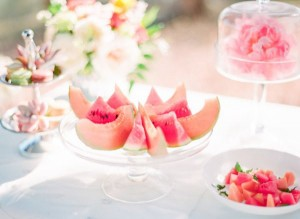 charleston weddings, summer wedding, fruit decor