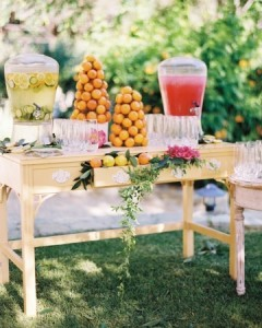 lowcountry weddings, summer wedding, fruit decor