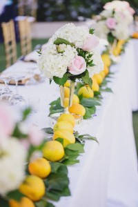 charleston weddings, summer wedding, fruit decor, lemons