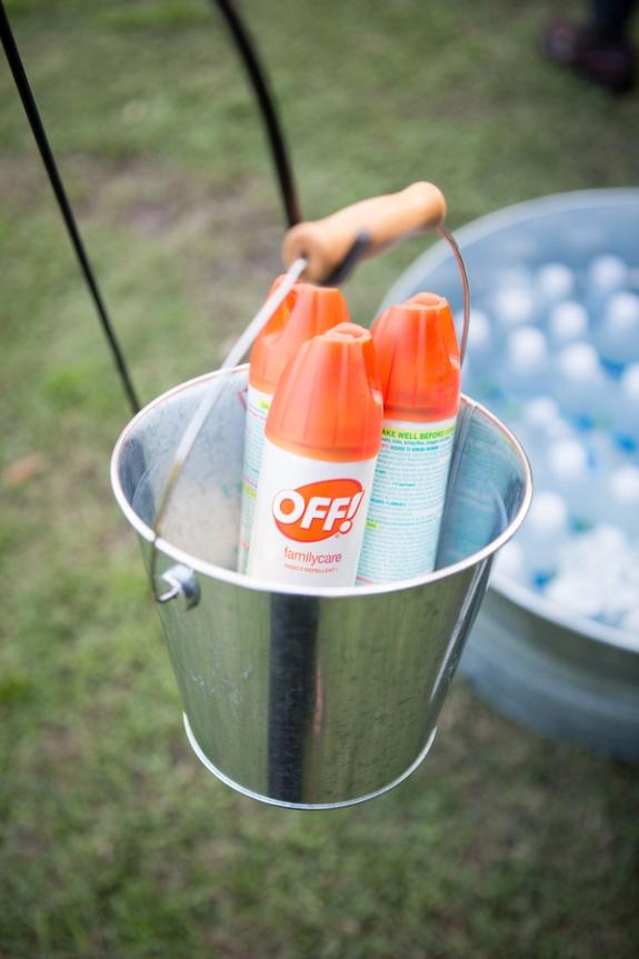 southern wedding, bug spray favors