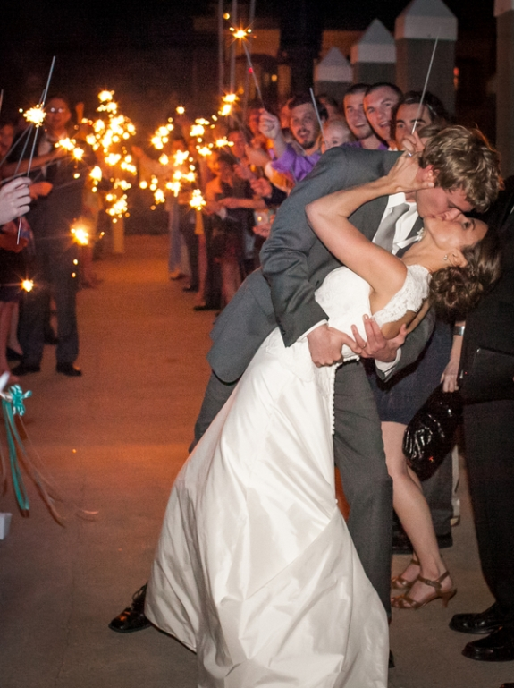charleston wedding exit, sparklers