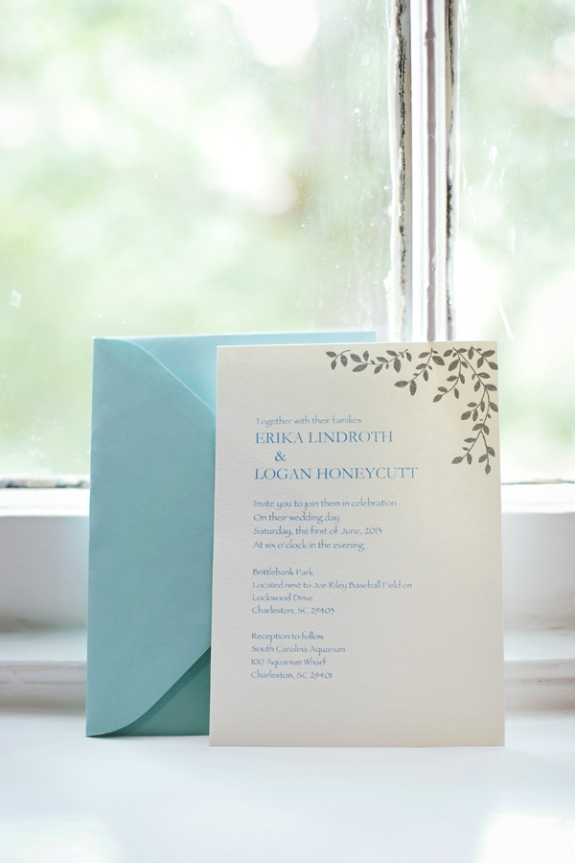 charlreston wedding invitations