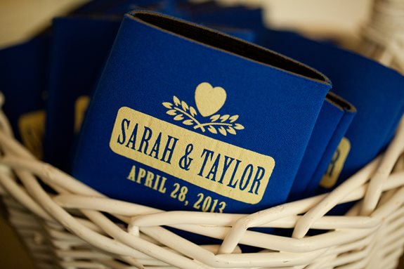 charleston wedding koozies